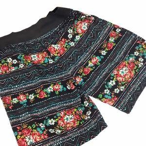 Joe B Banbasset Rose and Tribal Print Shorts